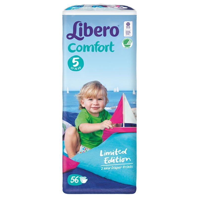 丽贝乐婴儿纸尿裤5号大包装(L)56片(新包装)