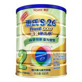 惠氏 S-26金装 健儿乐 较大婴儿和幼儿配方奶粉 2段900g 罐装(新配方)