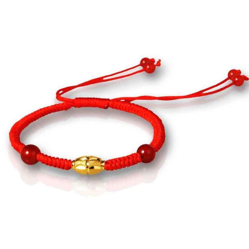 红绳转运珠手链编法图解