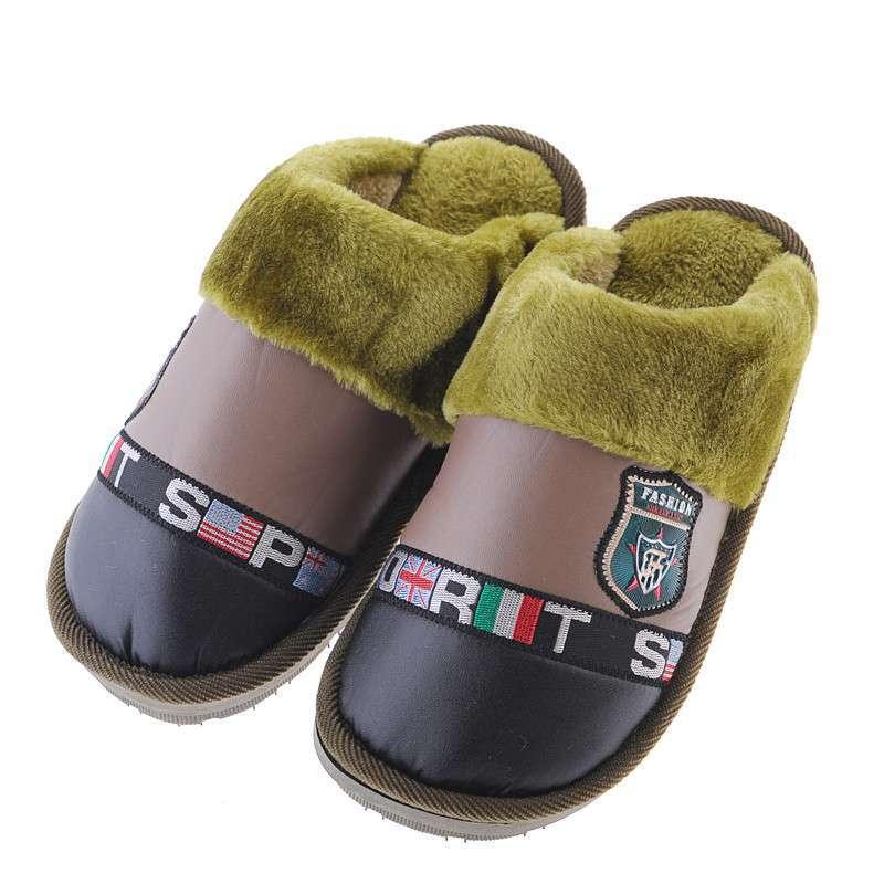 女情侣保暖平拖鞋