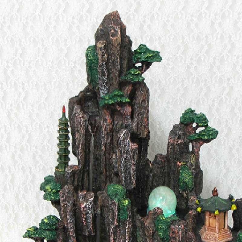 擺件假山流水噴泉水景魚缸工藝品擺設客廳裝飾品6007
