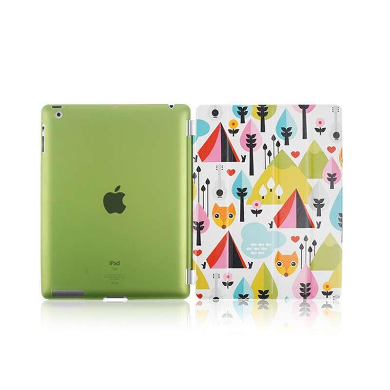 休眠支架时尚可爱保护皮套 适用于苹果ipad4/3/2 笑脸候