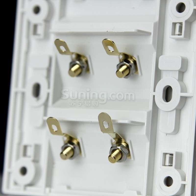 【】西门子品宜白色四接线柱音响插座5tg06392nc01