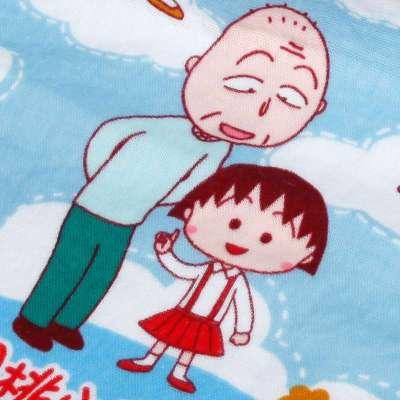日本内野樱桃小丸子微笑全家福面巾两件装礼盒