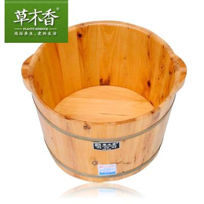 草木香正品香柏木足浴桶 泡脚木桶 洗脚木盆 足浴木桶