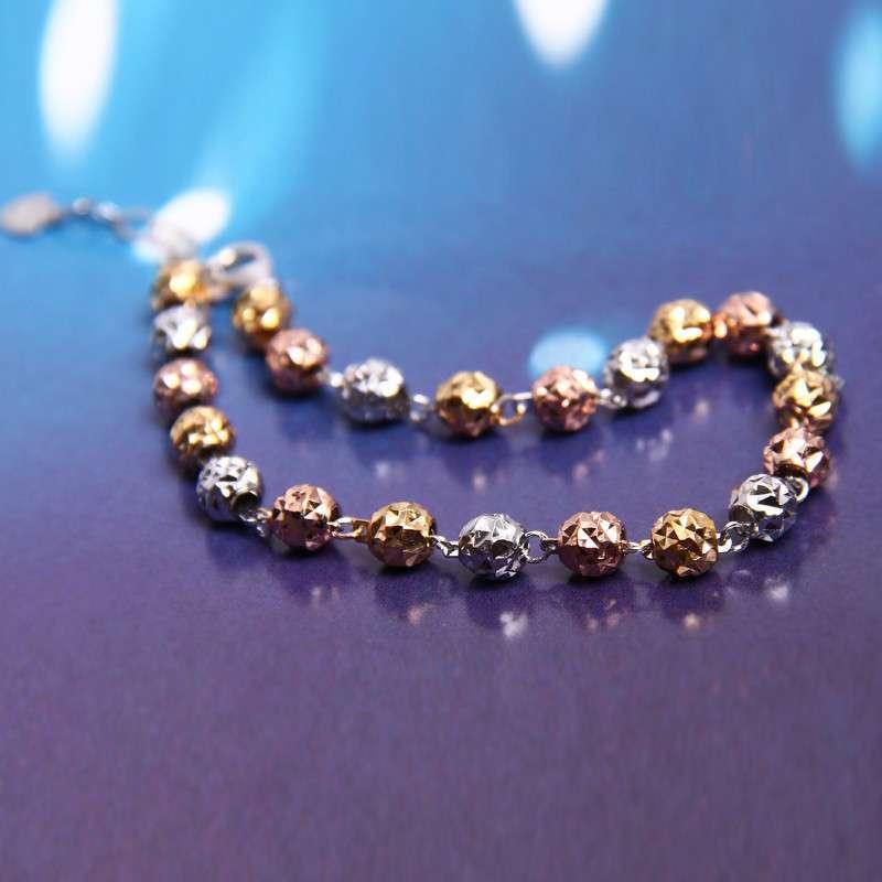 金珠子手链编法图解