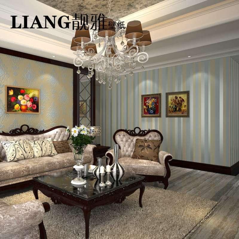 天鹅绒欧式壁纸 卧室客厅电视背景墙植绒壁纸ab版