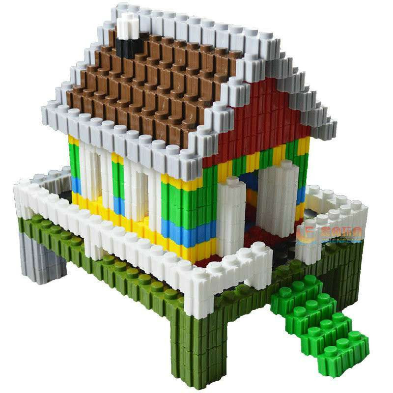 晨风玩具 万能百变积木拼插3d立体拼图乐高式塑料玩具