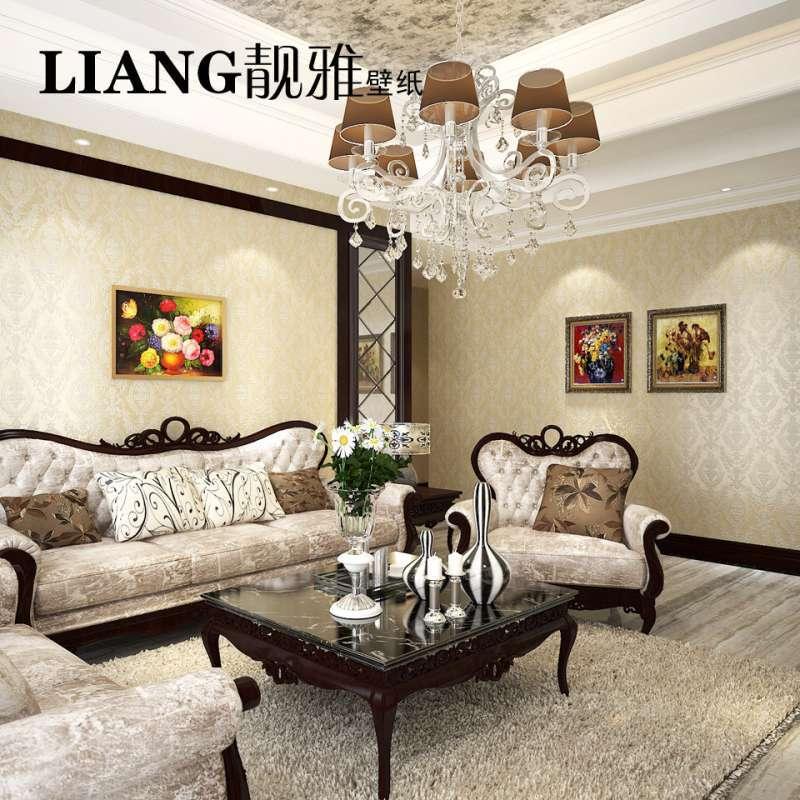 欧式田园客厅卧室温馨电视背景墙壁纸