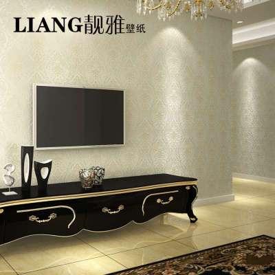 壁纸欧式简约客厅卧室温馨纯色