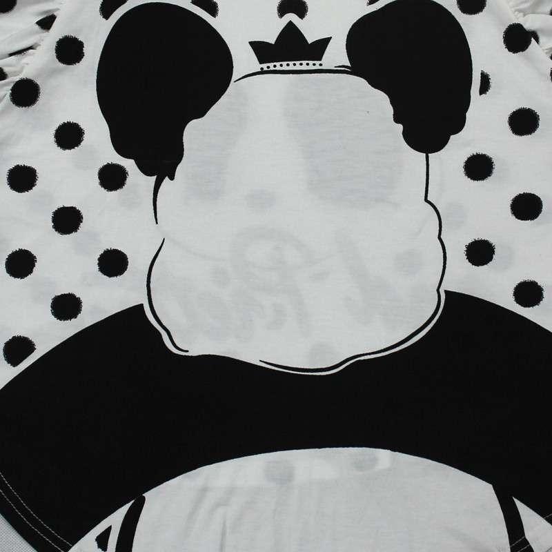 世佳物语女士家居服2619可爱熊猫头睡衣 白色 l