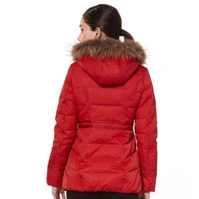 波司登羽绒服女新款指甲时尚修身中长款b1301182套装韩国155/76a.三角可宝正品红色图片