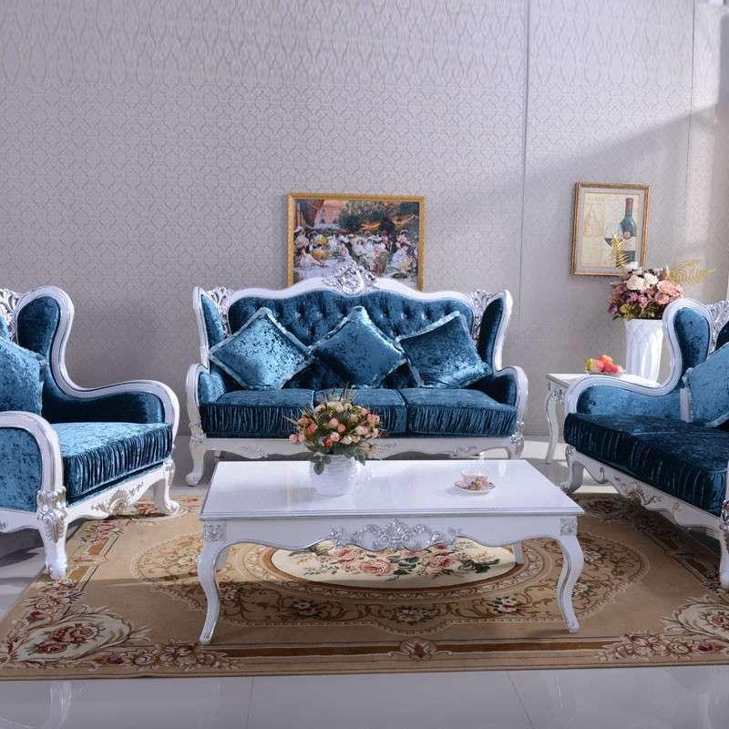 欧式新古典真皮布艺沙发组合酒店别墅客厅单人