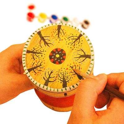 diy扯铃空竹手绘材料包 传统竹木手工(含抖绳抖杆,绘画工具)-苏宁电器