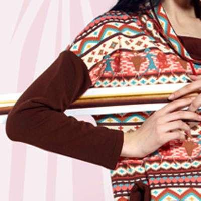 居服飞毯YOYO波尔卡绝句系列磨毛印花卫衣布自己初中水平七言的写秋冬图片