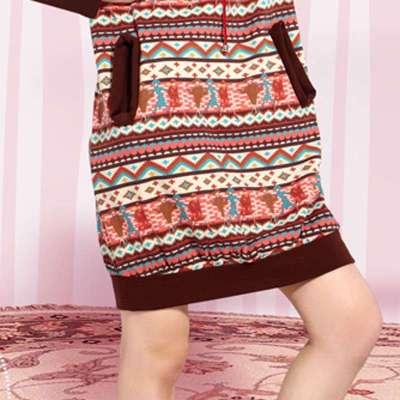 居服秋冬YOYO波尔卡飞毯系列磨毛印花卫衣布下任初中安妮骆宅图片