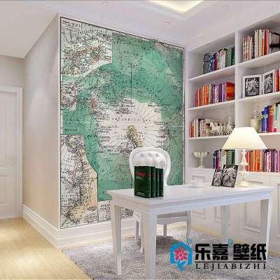 乐嘉大型定制壁画 南极大陆地图m525-1