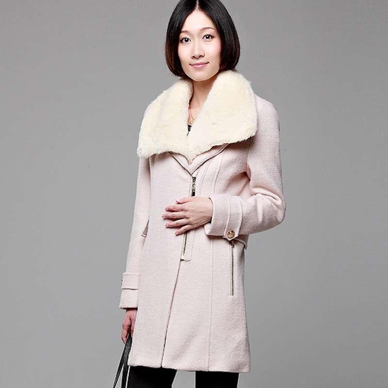 薇娜卡米儿 女士大衣 秋冬款欧美大牌超大毛领