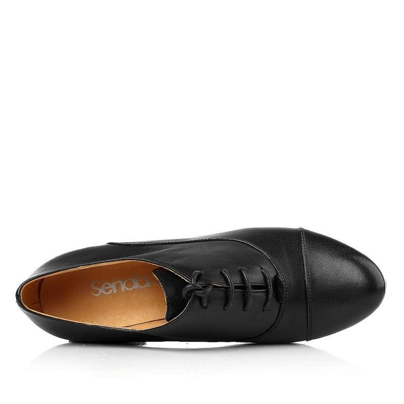 【】senda/森达2013秋季小牛皮女单鞋4jt62cm3粗高跟