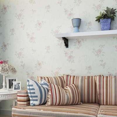 无纺布欧式田园碎花小清新温馨卧室背景墙壁纸