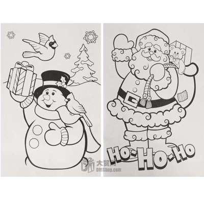 笔画,圣诞老人,雪人,表情
