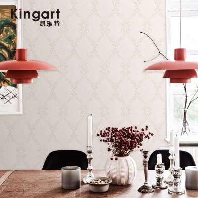 凯雅特壁纸欧式古典宫廷花客厅电视背景墙简约竖条