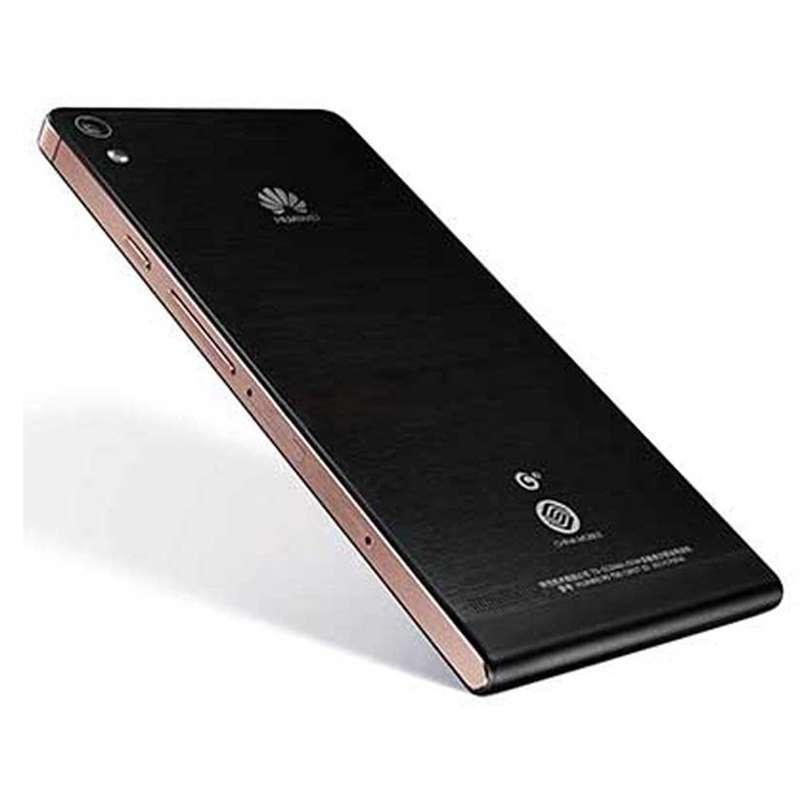 华为手机p6-t00(黑色)(玫瑰金边框)