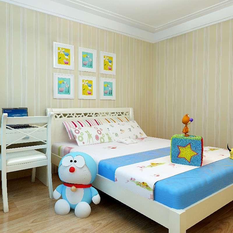 美式英伦男孩儿童房间简约现代卧室客厅竖
