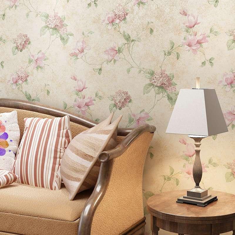 复古无纺布壁纸欧式古典做旧田园客厅卧室背景墙纸