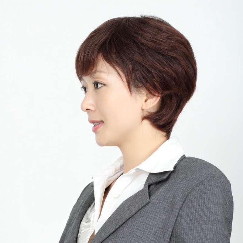 玫瑰雨 简单气质型女士短发