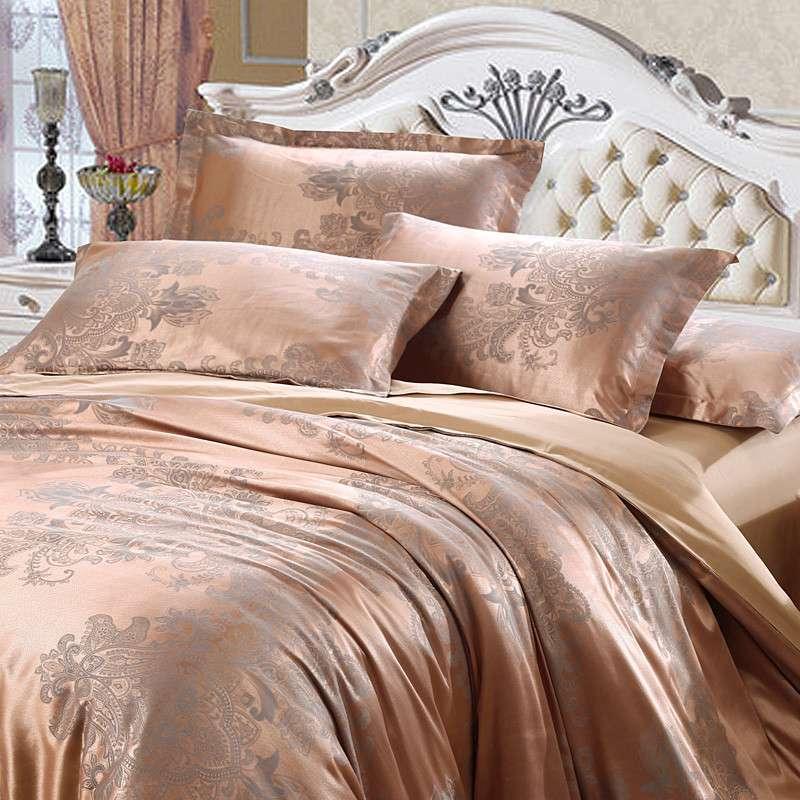 欧式家纺奢华宫廷贡缎提花套件天丝棉优卡丝床上用品