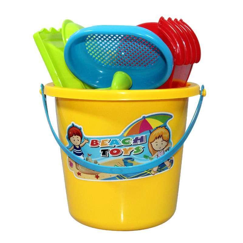 儿童沙滩玩具套装 玩沙玩具挖沙工具 宝宝戏水玩具 品质玩具沙滩桶10