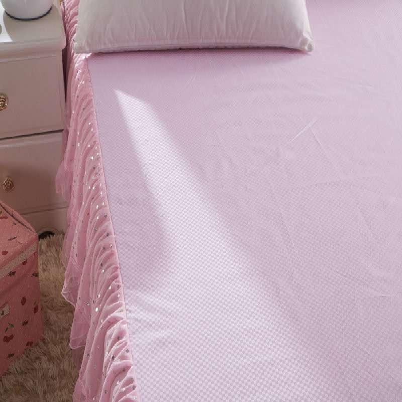 双层蕾丝花边床裙