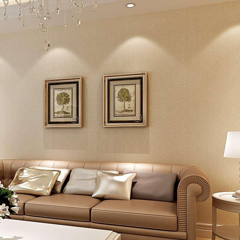 咨询一下客厅一面墙贴壁纸好看吗