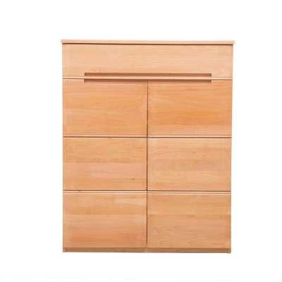 青岛一木家具 榉木纯实木01鞋柜1#玄关鞋柜简约组合鞋柜 正品包邮