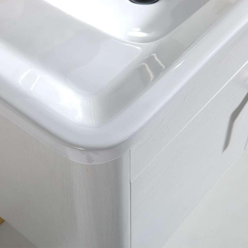 304不锈钢实木纹欧式浴室柜yg08白橡木纹