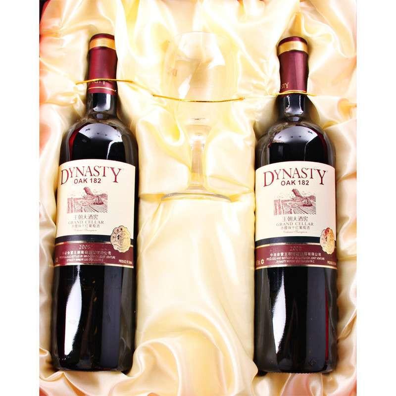 王朝酒堡oak182赤霞珠干红葡萄酒750ml*2【报价