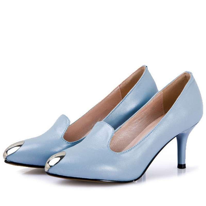 芭�9j�j��h�(�yd�9c%�i�_芭笛尔2014夏季新款单鞋高跟鞋女士细跟性感时尚女鞋06126 蓝色 37码