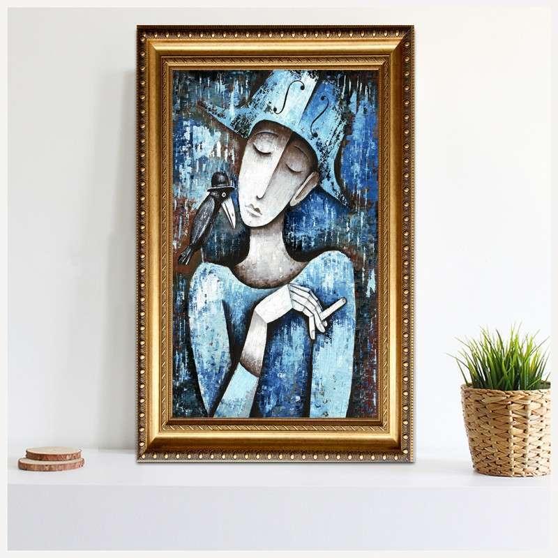 现代抽象油画 仿手绘 人物