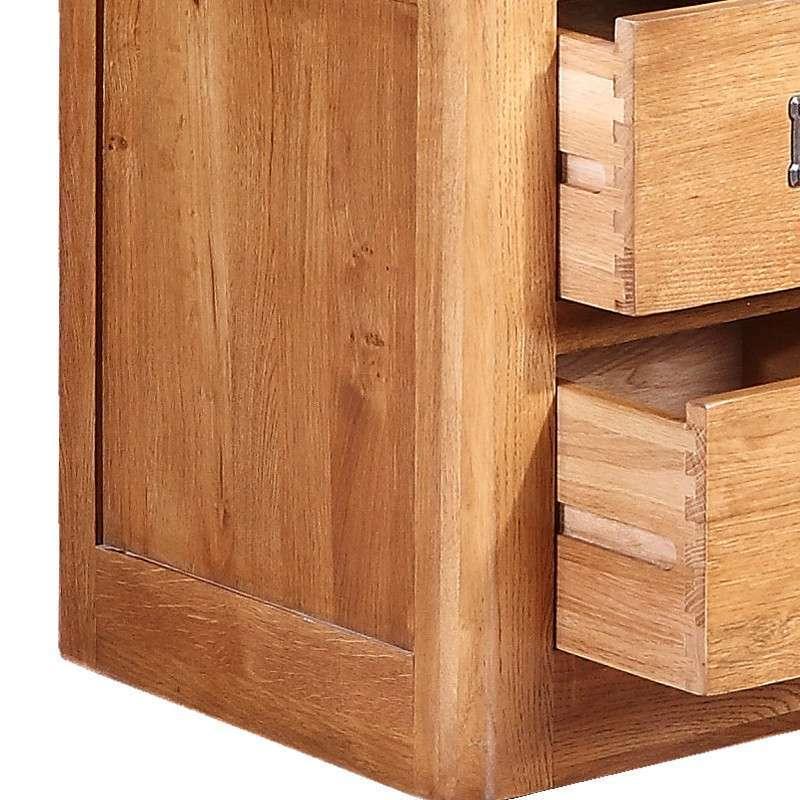 喜之林家具 zr102 实木床头柜电话几 100%纯实木家具时尚简约 仿古色