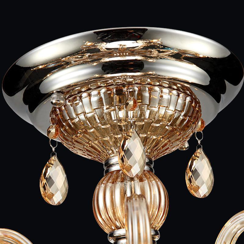 世源奢华欧式灯吊灯水晶灯客厅灯复式别墅蜡烛水晶灯具灯饰pl7232 6头