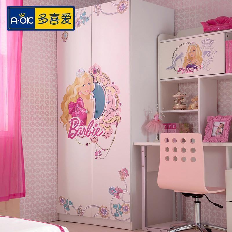 多喜爱 儿童家具 芭比宫殿儿童套房 套房家具 公主套房 卧室套房 1.