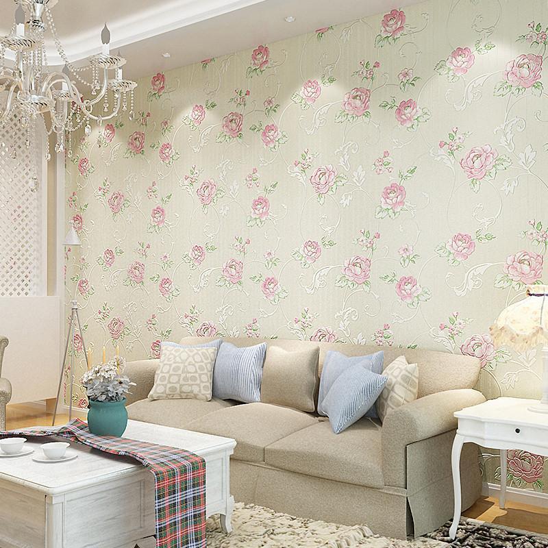 本木卧室温馨床头背景墙壁纸