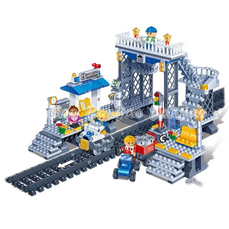 邦宝乐高式v玩具狂欢拼装小玩具积木积木颗粒站台图纸积木积高火车航空母舰玩具图片