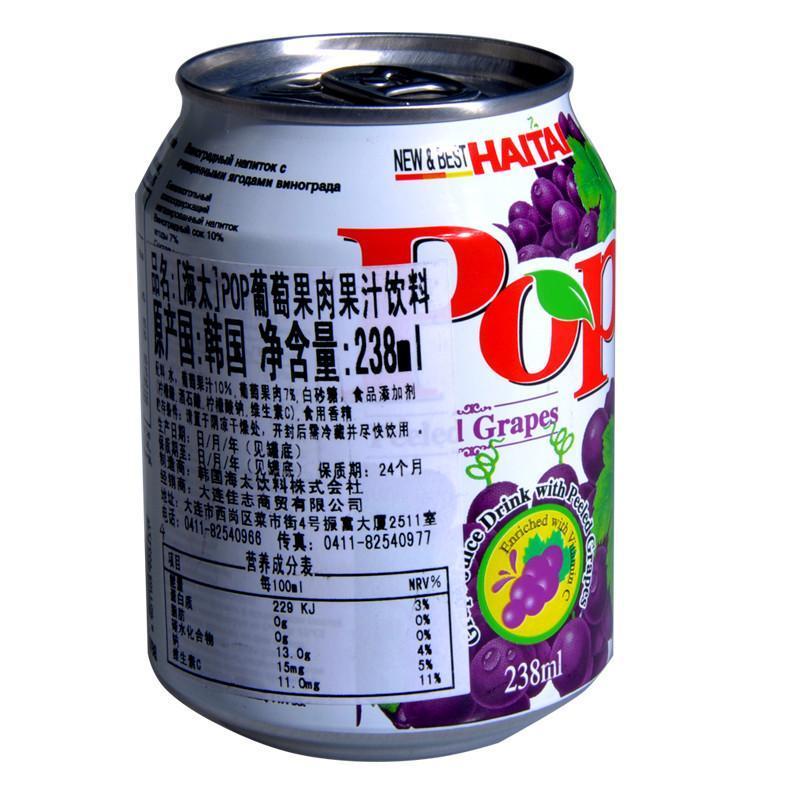 海太pop葡萄果肉果汁饮料238ml