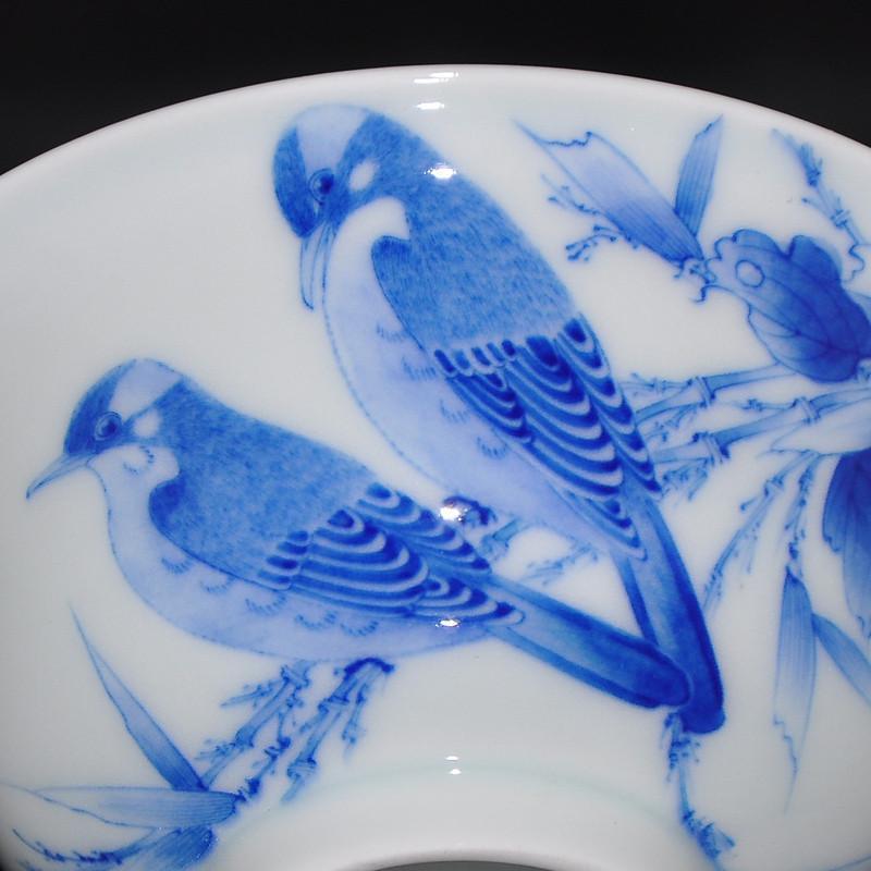 淘瓷缘景德镇名家金宏霞手绘青花瓷器茶具盖碗三才杯茶碗茶杯【共度】