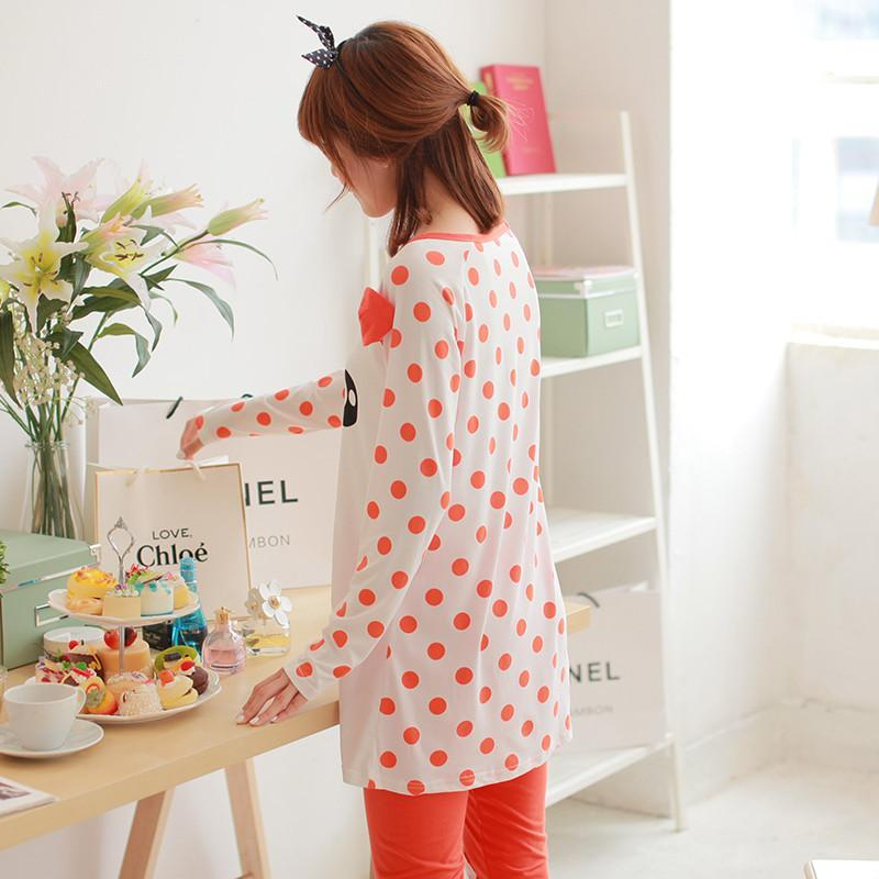 2014新款 韩版少女可爱秋季卡通家居套装