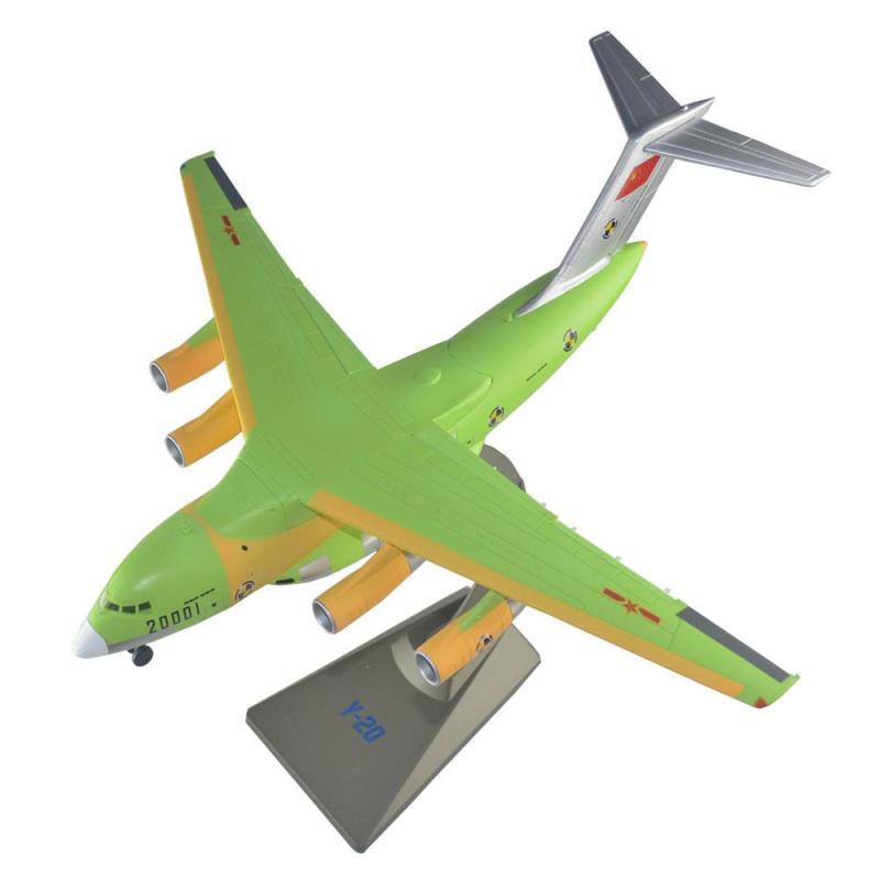 合金成品模型 合金静态运20飞机模型