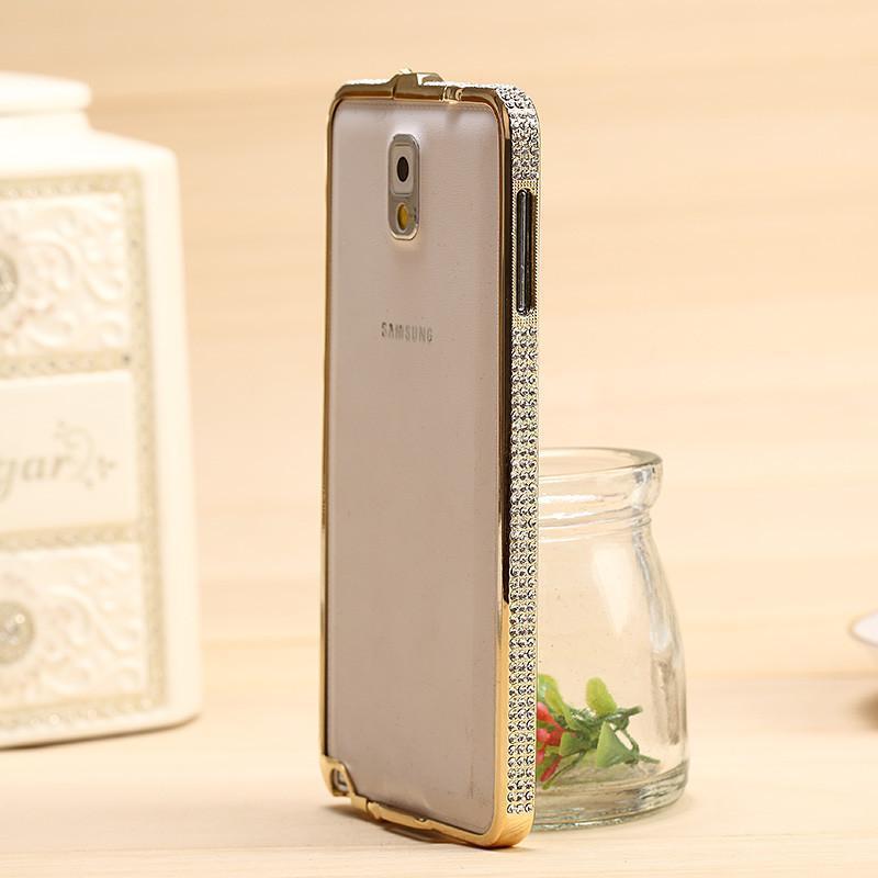 钻壳 海马扣镶嵌水钻金属边框 手机套 手机套保护套 适用于三星note3