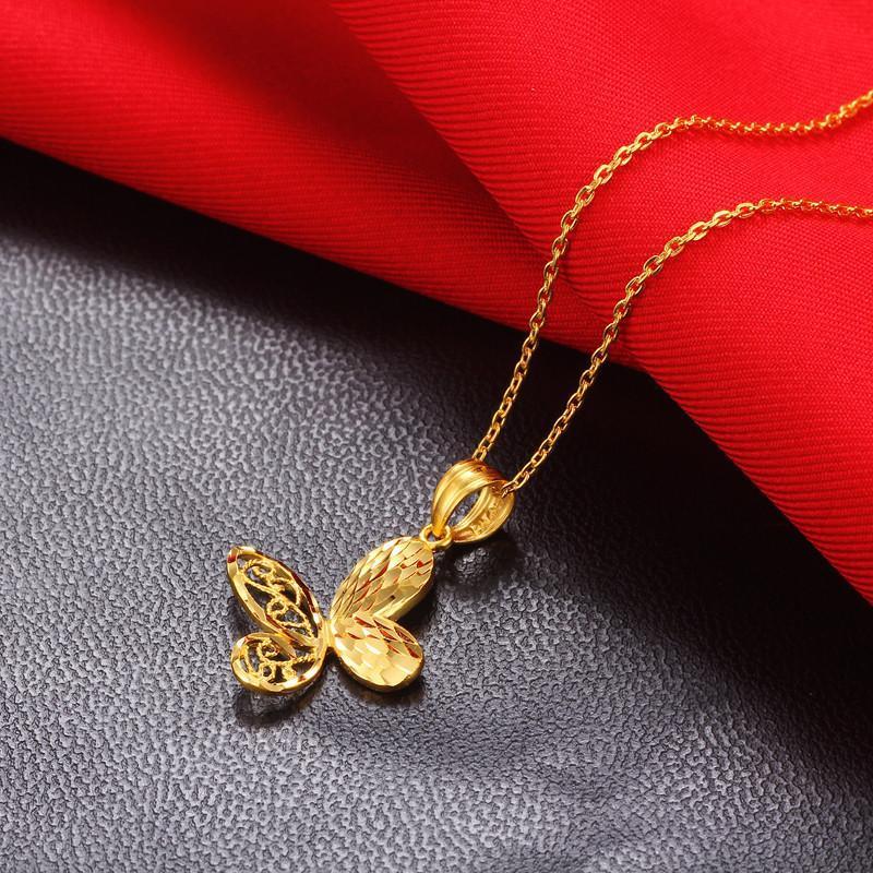 珠宝蝴蝶吊坠手绘图